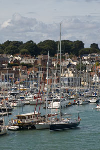 Cowes on the isle of Wight - yachting centre