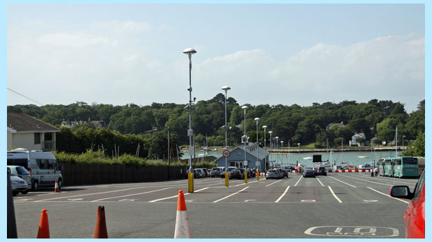 ferry port at fishbourne, isle of wight