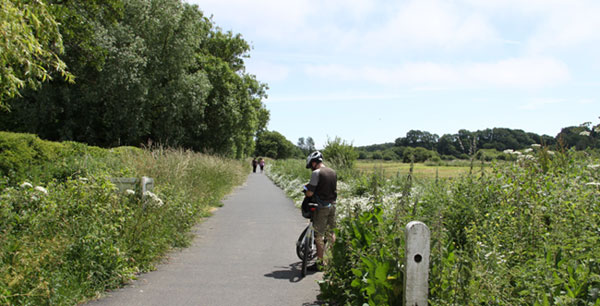rural areas for walks and cycling